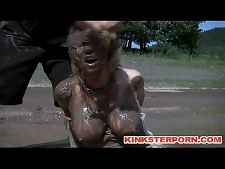 Outdoor bdsm mud slave disgrace