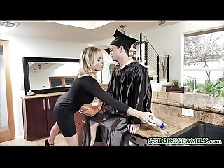 Cap And Gown Dick Down with stepmom