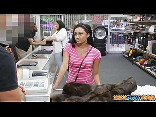 Cute latina teen babe gets fucked in pawn shop