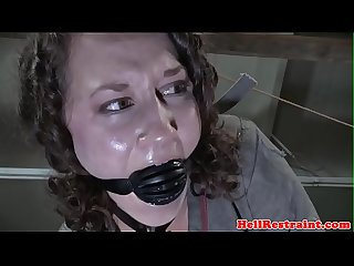 Ballgagged bdsm sub doggystyled by maledom