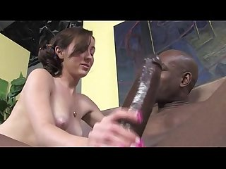 Interracial loving slut hard fuck and blowjob