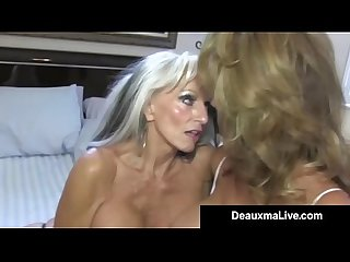 Texas cougar deauxma watches as sally d angelo bangs hubby excl