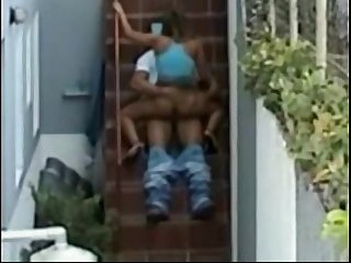 Hidden camera sex caught doing the nasty by neighbor zoomed