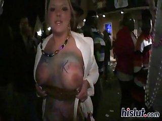 Titties flashing
