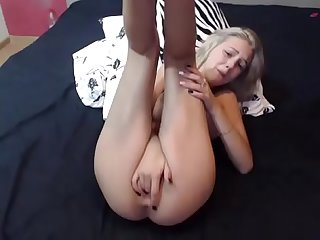 Hot blonde from www viewcamgirls com plays on cam and squirts