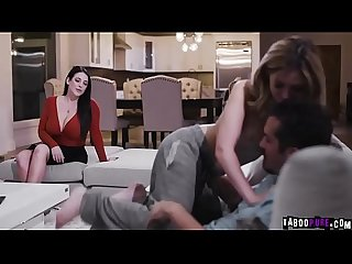 Donnie Rock receives a double blowjob from Jane Wilde and Angela White!