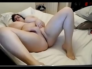 Chubby girl with extreme boobs masturbate - watch live at www.camsplaza.online