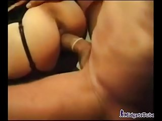 Midget mistress gets some meat