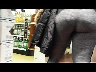 Pawg ass Leggings grey tights