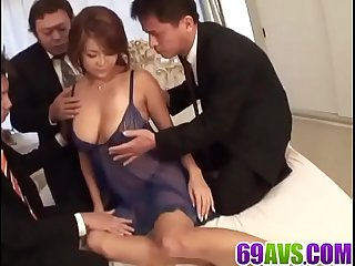 Rui horie ravished in nasty gangbang action more at 69avs com