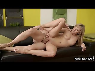 Blonde wants it hard would you pole dance on My dick quest