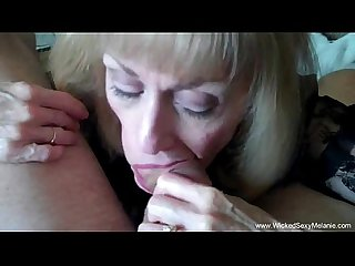 Cuckold granny is addicted to cum