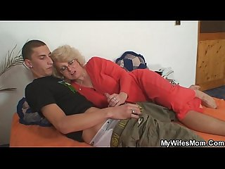 Naughty mother in law takes him