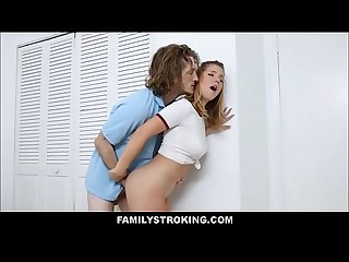 Hot teen step sister willow winters seduces brother