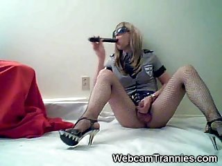 Tranny police on cam
