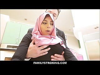 Thick Big Ass Virgin Muslim Teen Step Daughter Ella Knox Has Sex With Step Dad After He..