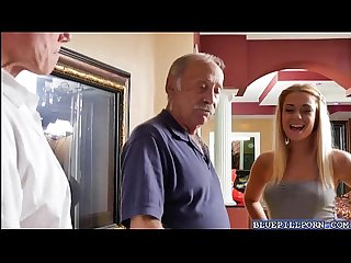 Blonde hottie kenzie green takes an old cock