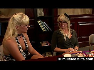 Humiliatedmilfs mature lesbian threesome