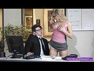 Hot blondie staci carr seduces and fucks A boss in the Office