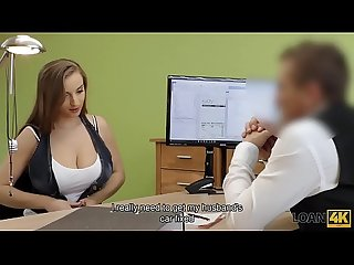 Loan4k period buxom babe gets fucked on table of loan manager for cash