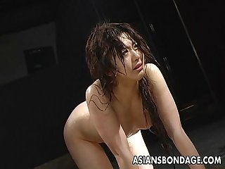 Provocative Asian slavegirl whipped by a horny domme