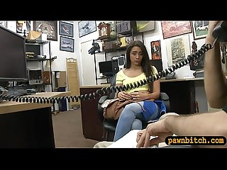 Beautiful babe pounded by pawn keeper