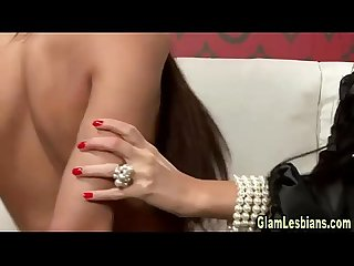 Glamour lesbian domination play