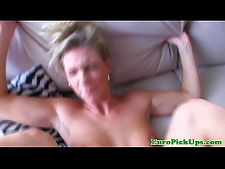 Eurobabe jizzed on after Pussyfucking