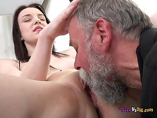 Lenka groaning for joy at the eating of her delicious pussy