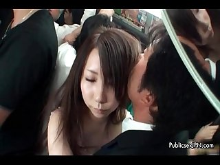 Cute asian babe gets horny getting her