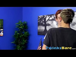 Cute redhead hung twink Dennise gets ass pounded hard