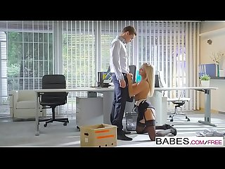 Babes office obsession the long goodbye starring cayla lyons clip
