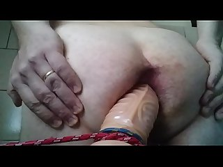 Super big dildo destroyer ass
