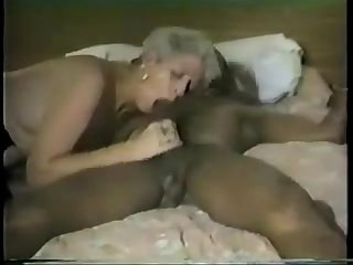 Short haired mature gets some black cock part 2