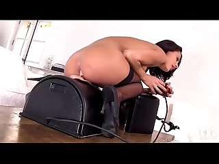 French seductress Nikita Bellucci rides the Sybian till she explodes!