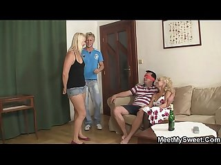 Funny threesome with his girlfriend