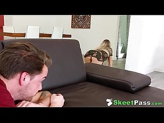 Sneaky masturbating sis khloe kapri caught fucked by step bro