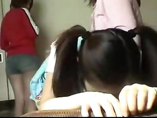 092 spanking from mother to daughters