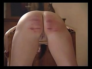 19 girls feel the cane with the last girl getting caned for fucking