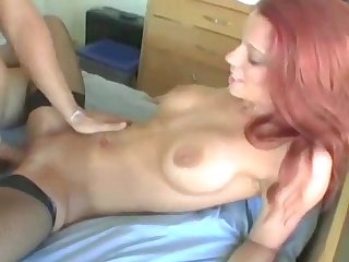 Housewife rides his younger hard cock very really wel