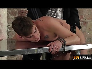 Deacon loves to pound cameron butt while chained on table