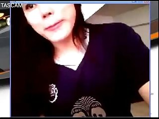 Buriram thai girl football fan club on webcam