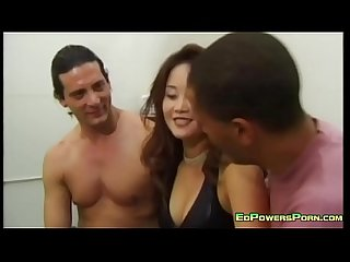 asian cutie fucked by two guys