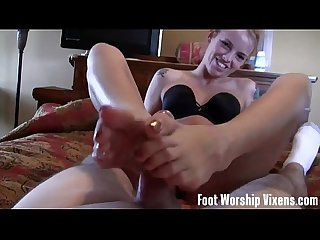 Lingerie foot worship