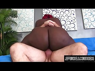 Old White Cock Makes Ebony BBW Marley XXX Phat Booty Wiggle