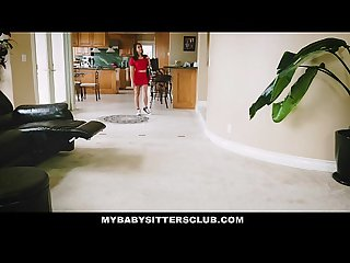 Mybabysittersclub baby sitter gets a threesome on the job