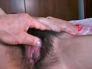 peloso FIGA ragazza gode di si masturba