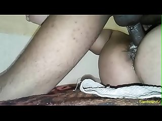 Indian Desi wife hard creampei fucked by hubby with oil fingering and squirting with Moaning loudly
