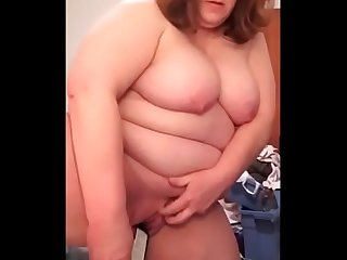 Mature Amateur with big breasts masturbating