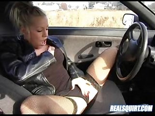 Kream squirts in her car